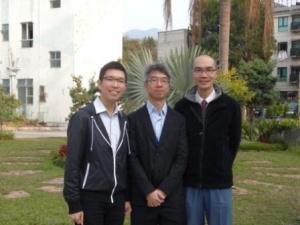 (左起) 黃家華老師、李志明老師及呂明德老師落力推動 eClass Parent App。